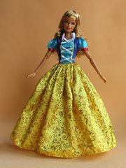 Barbie Princess Dress-Modest Barbie Clothes-Barbie Shoes-Earrings