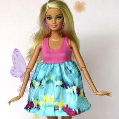 Barbie Doll Dress-Pink Barbie Shoes-Pink Pearl Earrings
