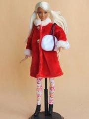 Modest Barbie Clothes-Coat-Hat-Blouse-Purse-Leggings-Boots