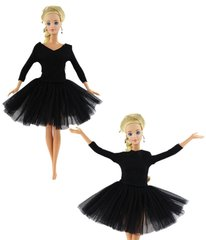 Barbie Ballet Clothes-Black Tutu-Ballet Shoes