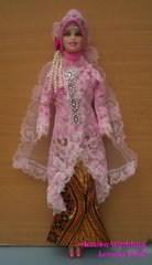 Pink Barbie Wedding Dress-Veil-Jacket-Shirt-Skirt-Jewelry-Shoes