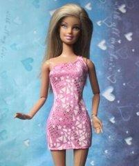 Pink Barbie Dress-Modest Barbie Clothes-Barbie Shoes-Earrings