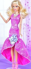 Sparkly Barbie Dress-Modest Barbie Clothes-Shoes-Earrings