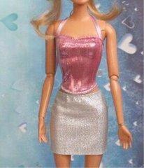 Barbie Skirt-Barbie Shirt Set-Modest Barbie Clothes-Shoes-Earrings