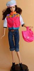 Barbie Casual Wear-Hat-Vest-Shirt-Pants-Belt-Shoes-Purse