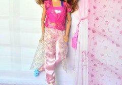 Barbie Casual Wear-Shirt-Vest-Skirt-Pants-Belt-Barbie Shoes