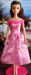 Barbie Princess Dress-Modest Barbie Clothes-Shoes-Pink Earrings
