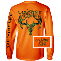 Country Life Long Sleeve T-Shirt-Skull
