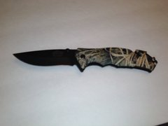 Brown Camo Spring Assisted Tactical Rescue Knife