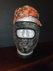 Camo Hardwoods Wrap Around Face Mask