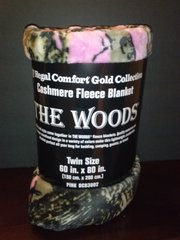Camouflage Cashmere Blankets in Pink, Orange, and Green