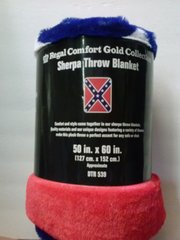 Rebel Flag Sherpa Throw