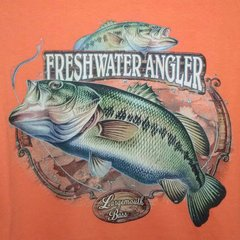 Orange T-Shirt-Freshwater Angler