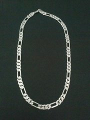 """Silver Bonded Pave Figaro 20"""" Necklace 460/20"""