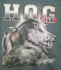 Grey T-Shirt-Hog Wild