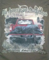 Brown T-Shirt-All American Hog Hunter