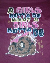 A Girls Gotta Do What A Girls Gotta Do- Burgandy Youth T-Shirt