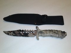 Jungle Camo Combat Survivor Knife