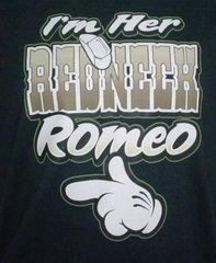 Black T-Shirt- I'm Her Redneck Romeo (with Finger)