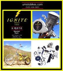 IGNITE (TM) 66/80CC 2-STROKE BICYCLE MOTOR KIT