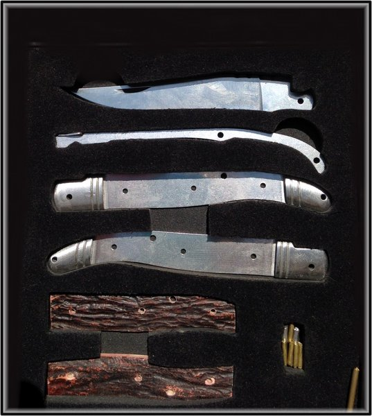 The Complete Pocket Knife Kit By Indy Hammered Knives