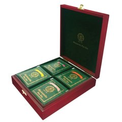 FLAVOURED WOODEN TEA TRAY (4 COMPARTMENT - FLAT PACKED)