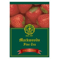 MACKWOODS STRAWBERY FLAVOURED 25 ENVELOPED TEA BAGS