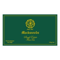 MACKWOODS SINGLE ESTATE UNBLENDED 50 ENVELOPED TEA BAGS