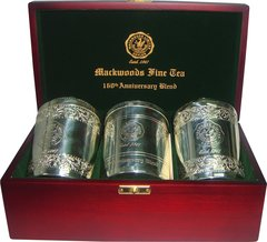 "MACKWOODS ""160TH ANNIVERSARY BLEND"" THREE CADDY IN WOODEN BOX"