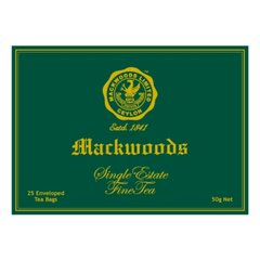 MACKWOODS SINGLE ESTATE UNBLENDED 25 ENVELOPED TEA BAGS
