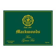 MACKWOODS 25 ENVELOPED GREEN TEA BAGS