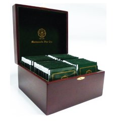WOODEN TEA TRAY (4 COMPARTMENT)