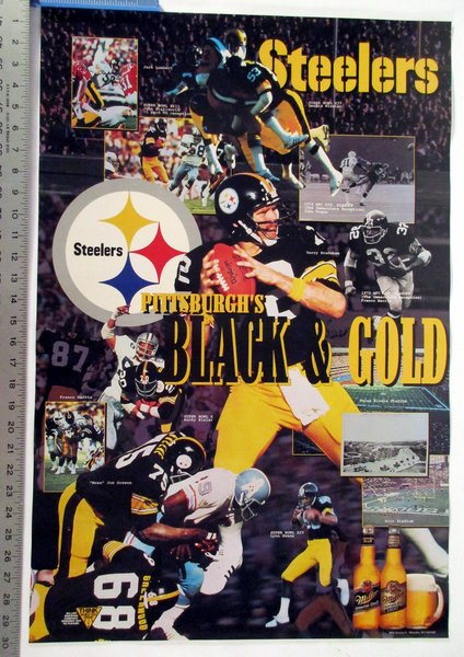 Iron Bowl Champs 2017 >> Pittsburgh Steelers - Black & Gold poster   Pittsburgh Sports Gallery Mr Bills Sports ...
