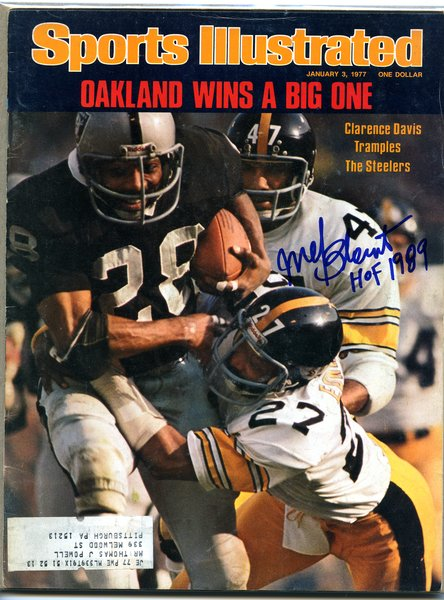 Mel Blount Pittsburgh Steelers Signed Sports Illustrated