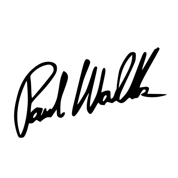 Paul Walker Signature Decal Emblem Overlays