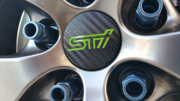 2015 Subaru Wrx Sti Center Cap Overlays Emblem Overlays