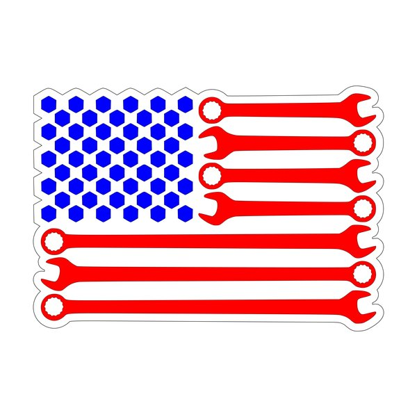 Wrench Flag Decal Emblem Overlays