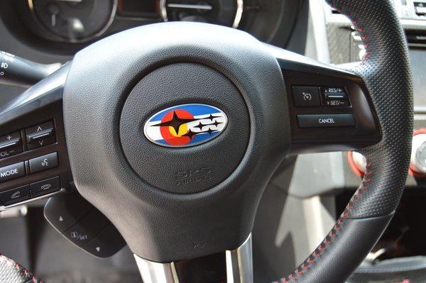 colorado flag steering wheel overlay subaru wrx sti legacy. Black Bedroom Furniture Sets. Home Design Ideas