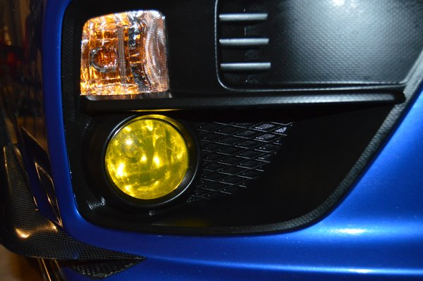 2015 Wrx Sti Yellow Fog Light Overlays Emblem Overlays