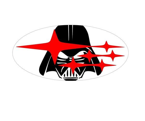darth vader subaru emblem overlays wrx sti legacy | pro stickers