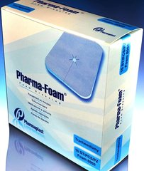 "PHARMAFOAM Dressing w ADH borders Comfort (6"" x 6"") (Case)"
