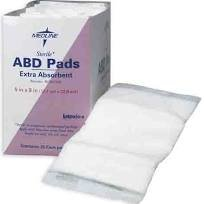 Abdominal Pad 8x7 1/Pouch, Sterile