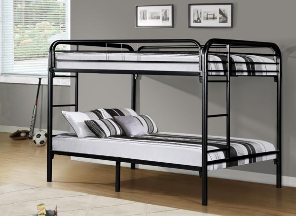 Full Top Full Bottom Metal Bunk Bed American Dream Home
