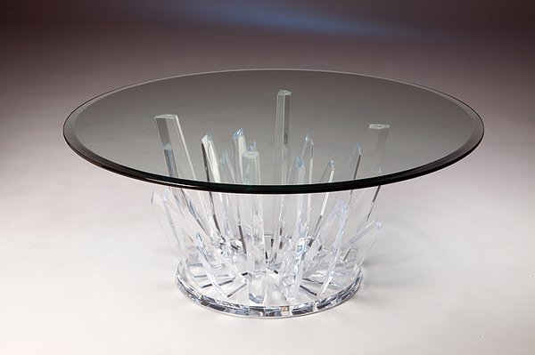 Starburst acrylic cocktail table american dream home for Cocktail table accessories