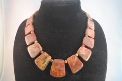 Picasso Jasper Large Fan Necklace