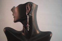 Ruby in Zosite Earrings