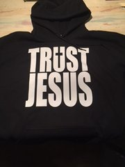 HOODIE - BLACK - TRUST JESUS WITH CROSS