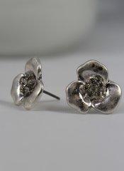 fleur silver earring