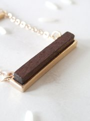 bar and stone necklace