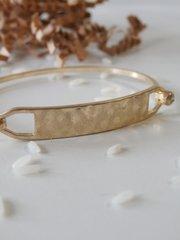 hammered bar bracelet silver